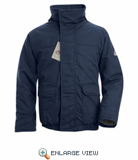JLR8NV EXCEL- FR™ COMFORTOUCH™ Navy Insulated Bomber Jacket