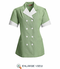 9S03HU Hunter Green Double Breasted Lapel Tunic