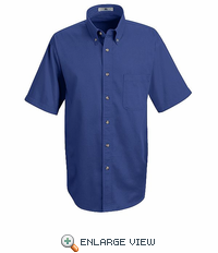 1T22RB Short Sleeve Royal Blue Meridian Preformance Twill Shirt