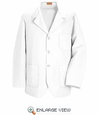 KP10WH White Lapel Counter Coat