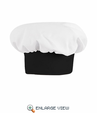 HP60BB White with Black Band Chef Hat
