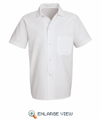 5010WH White Button-Front Cook Shirt