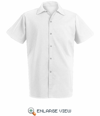 5035WH White Spun Poly Long Cook Shirt
