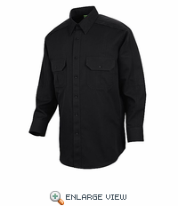 HS1502 Black Unisex Long Sleeve Special OPS Woven Shirt