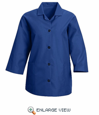 TP31RB Women's Royal Blue Loose 3/4  Sleeve Smock
