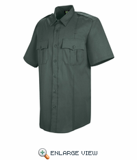HS1545a Men's Spruce Green Sentry® Plus Short Sleeve Shirt With Zipper