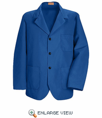 KP10RB Royal Blue Lapel Counter Coat