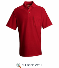SK64RD Red Cotton/Polyester Blend Jersey Knit Shirt