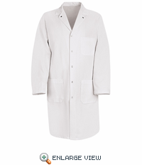 KT18WH White Gripper Front Butcher Coat