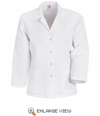KP17WH Women's White Specialized Lapel Counter Coats