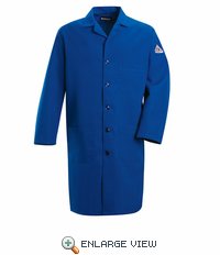 KNL2RB NOMEX® IIIA Flame-resistant Royal Blue Lab Coat HRC1