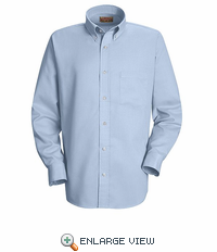 SS36LB Men's Light Blue Long Sleeve Oxford Button Down Dress Shirts