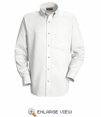 SS36WH Men's White Long Sleeve Oxford Button Down Dress Shirts