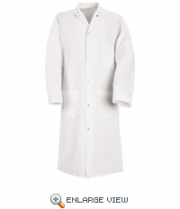 KS62 Spun Poly Gripper Front Butcher Coat