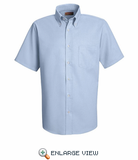 SS46LB Men's Light Blue Short Sleeve Oxford Button Down Dress Shirts