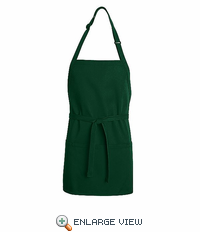 TT32HG Hunter Green Short Premium Bib Apron