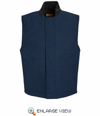 VD22ND Blended Navy Duck Insulated Snap Front Vest