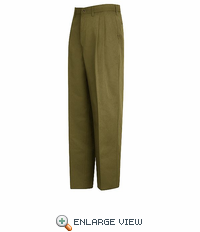 PT44KH Relaxed Fit Khaki Pleated Pant - Discontinued