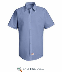 SS26TL Tall  Pocketless S/ S Performance Polyster Industrial Work Shirt