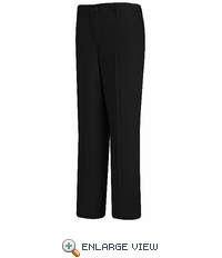 PC45BK Women's Black Plain Front Cotton Casual Pant