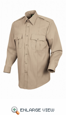 HS1148 Men's Silver Tan Sentry® Plus Long Sleeve Shirt With Zipper