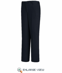 PC45NV Women's Navy Plain Front Cotton Casual Pant