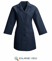 TP11NV Women's Navy Fitted 3/4 Sleeve Smock