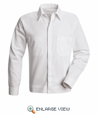 SC35 Shirt Jacket, Button Front Cotton Long Sleeve - Discontinued