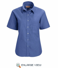 SR65 Short Sleeve Women's French Blue Executive Button-Down Shirt