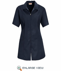 KP43NV Women's Navy Zip Front Smock