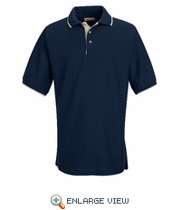 SK48NV Navy/Cream Herringbone Knit Tipped Trim Shirt - Discontinued