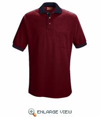 SK14BN Short Sleeve Burgandy/Navy Performance Knit® Polo W/  Contrast Trim - Discontinued