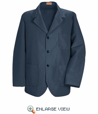 KP10NV Navy Lapel Counter Coat