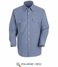 SC72 Long Sleeve100% Cotton Chambray Shirt - Discontinued
