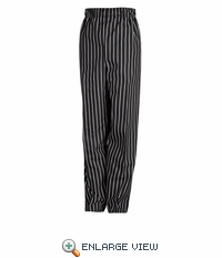 PS54CS Chalk Stripe Spun Poly Baggy Chef Pant