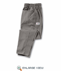 PS54WB Woven White&Black Checked Spun Poly Baggy Chef Pant