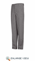 PS64WB White & Black Check White Spun Poly Cook Pant