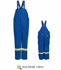 BNNTRB Nomex® IIIA Flame-resistant Royal Blue Deluxe Insulated Bib Overall with Reflective Trim
