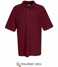 SK22BR Short Sleeve Burgandy Performance Knit® 50/50 Blend Jersey Shirt - Discontinued