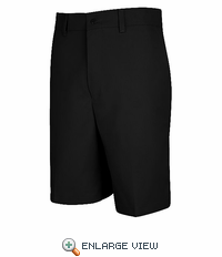 PT26BK Men's Black Plain Front Shorts