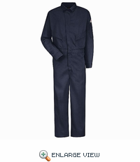 CLD4NV 6 oz. EXCEL FR® Flame-resistant Navy Deluxe Coverall