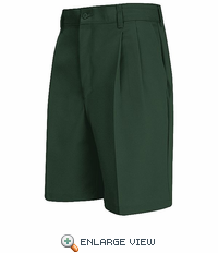 PT34SG Men's Spruce Green Pleated Shorts - Discontinued