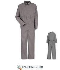 CLD4GY 6 oz. EXCEL FR® Flame-resistant Grey Deluxe Coverall