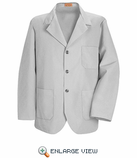 KP10GY Light Grey Lapel Counter Coat - Discontinued