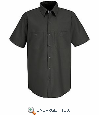 SP24SDLT Men's  Long Tail SS Solid Ind Work Shirt