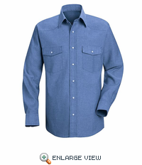 SC14LB Long Sleeve Light Blue Western Style Uniform Shirt
