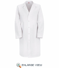 KP38WH White Specialized Lab Coat, No Pockets