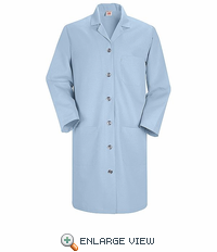 KP13LB Women's Light Blue Red Kap Lab Coat