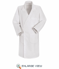 WS50WH White Unisex Spun Polly Butcher Wrap