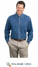 Port Authority - Heavyweight Denim Shirt. S100